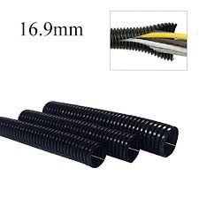 compare 50 metres black spiral split conduit trunking tube 50 metres black spiral split conduit trunking tube wiring loom cable tidy 16 9mm