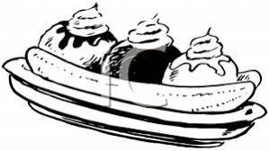 Small Picture Free Clipart Image Banana Split Coloring Page