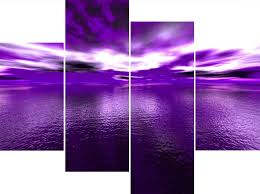 large four panel purple wall art canvas sea andros vision pictures exclusive prints elegance waters awesome