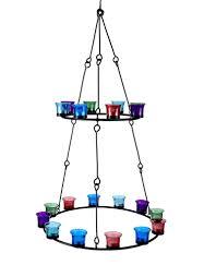 Doppelte Stufe Tee Licht Kronleuchter