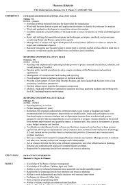 Business Systems Analyst Lead Resume Samples Velvet Jobs