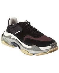 Balenciaga Size Chart Shoes Amazon Com Balenciaga Triple S Velvet Leather Sneaker