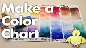 Watercolor Color Chart Beginner Watercolors 1 New Paint Make A Color Chart Watercolor Wednesday