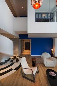 Split Level Living Room Penthouse In Shanghai