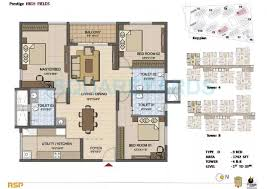 3 BHK 1742 Sq. Ft. Apartment for Sale in Prestige High Fields at Rs  6100/Sq. Ft, Hyderabad