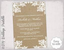 Rustic Wedding Invitation Templates Photoshop Wedding