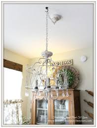 in comes our new french inspired breakfast nook chandelier
