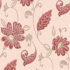 Wallpapering For A Living Room Graham Brown Juliet Red Floral Wallpaper Departments Diy At Bq