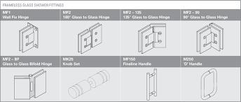 frameless glass shower fittings mf1 wall fix hinge mf2 180 glass to glass
