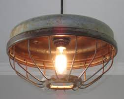 vintage farmhouse lighting. Industrial Chicken Feeder Pendant Lighting- Vintage, Kitchen Lighting, Farmhouse Lighting Vintage
