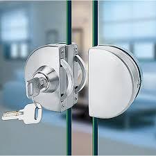 stainless steel glass door lock