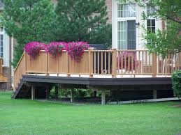 small deck furniture. Exterior:Wonderful Small Deck Furniture Ideas For Perfect Backyard With Stair Railing Fence And Green