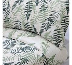 argos home green fern print bedding set