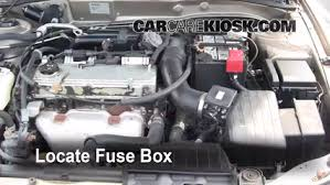 blown fuse check 1999 2003 mitsubishi galant 2002 mitsubishi locate engine fuse box and remove cover