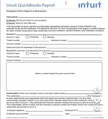 direct deposit form intuit template awesome of final for