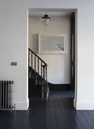 dark painted floor image via jj locations black floorboards