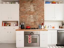 Red Brick Flooring Kitchen Interior Decoration Minimalist Modern Style Kitchen With Red