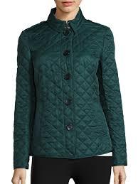 Burberry Ashurst Diamond-quilted Jacket in Blue | Lyst & Gallery Adamdwight.com