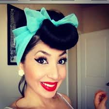 rockabilly hair and makeup pin up 50s style vine makeup retro