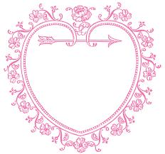 vintage frame design png. 1350x1265 Vintage Valentine#39s Day Clip Art Frame Design Png