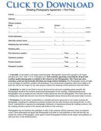 Sample Wedding Photography Contract Template - Kleo.beachfix.co