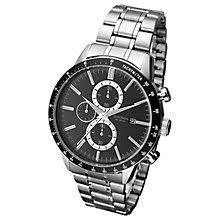 men s watches men s designer watches john lewis buy sekonda 1375 27 men s date chronograph bracelet strap watch silver black online at johnlewis