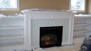 ... Attractive Living Room Decoration With Tile Fireplace Surrounds :  Exciting Living Room Decoration With Light Blue ...