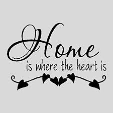 Amazon Home Is Where The Heart IsFamily Wall Quotes Sayings Inspiration Home Is Where The Heart Is Quote