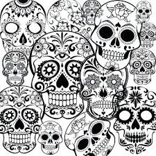 Skull Printable Wonrful Printable Sugar Skull Coloring Pages For