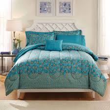 mainstays bed in a bag bedding comforter set peacock feather teal king size comforter image