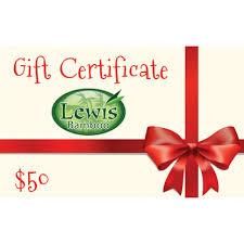 Holiday Gift Certificate Holiday Gift Certificate Lewis Bamboo