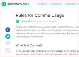 When Do I Use A Comma Comma Drama