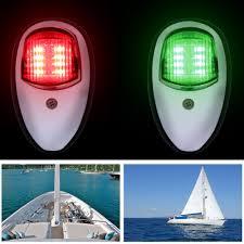 Red Side Light On Boat 2pcs Boat Navigation Light Underwater Light Signal Light