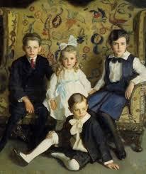 harrington mann a family portrait of four children painting framed paintings for