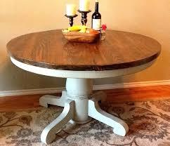 pedestal table base diy distressed round kitchen table new wood pedestal table base lovely modern farmhouse