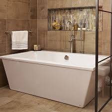 freestanding tub with faucet deck. seagram freestanding soaking tub with deck faucet