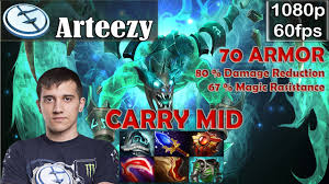 arteezy eg visage carry mid with 70 armor dota 2 pro mmr