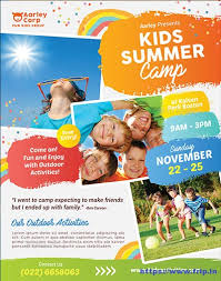 Summer Camp Pamplets 50 Best Kids Summer Camp Flyer Print Templates 2018 Frip In