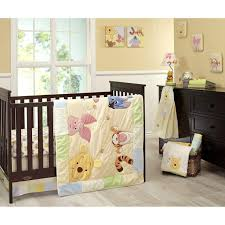 disney baby 7 pc king pooh crib bedding set