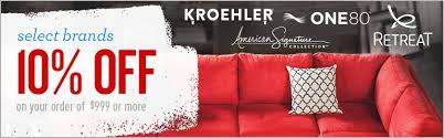 Furniture sale banner Inside 10 Off Select Brands When You Purchase 999 Or More Action Advertising And Flags Style Sale Asf Brands Kroehler One80 As