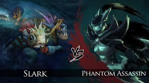 dota 2 slark vs phantom assassin one click battle youtube