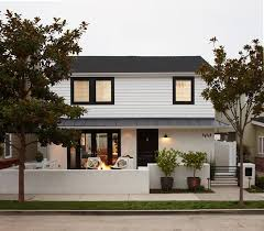 Small Picture White and black house with modern front wall Exterior Front