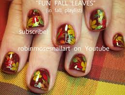 DIY Fall Leaf Nails | Easy Autumn Leaves Nail Art Design Tutorial ...