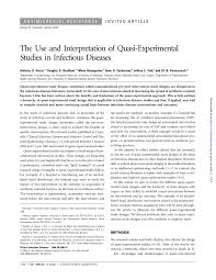 Study Design In Medical Research Ppt Pdf The Use And Interpretation Of Quasi Experimental