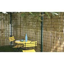 Brise Vue Brise Vent Bois Forest Style Okulto H 140 Cm X L 4 5
