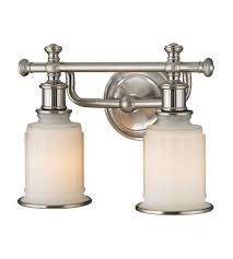 brushed nickel bathroom lights. ELK 52001/2 Acadia 2 Light 13 Inch Brushed Nickel Bath Bar Wall In Standard Bathroom Lights L