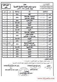 جدول امتحانات الصف الثالث الثانوي 2020 علمي الأزهر الشريف - كورة في العارضة