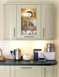 kitchen wall unit full height curved and glass units with internal shelves 500mm carcass