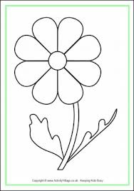 Small Picture Flower Colouring Pages