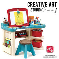 showy step 2 desk ideas creative art studio giveaway through 9 at with light